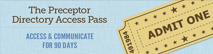 The Preceptor Directory Access Pass - 90 days of access for $90